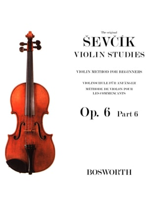 Etudes Opus 6 / Partie 6 - Violon Otakar Sevcik Partition laflutedepan