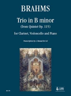 Trio en Si Mineur d'après le Quintette Op. 115 BRAHMS laflutedepan