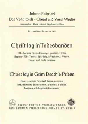 Christ lay in grim death's prison - score - laflutedepan.com