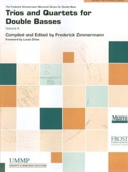 Trios and Quartets Vol. 3 - Contrebasses Partition laflutedepan