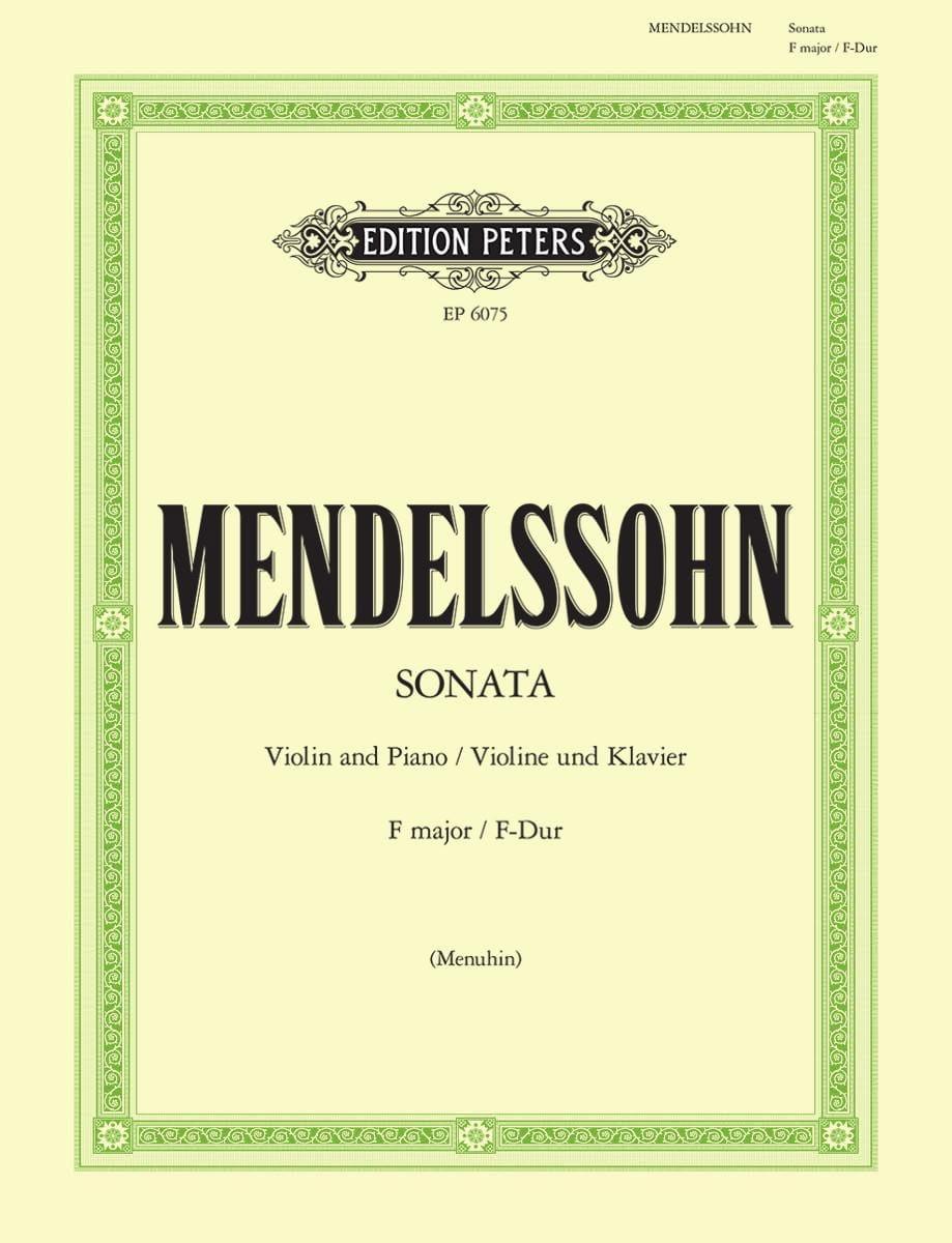 Sonate en Fa majeur - MENDELSSOHN - Partition - laflutedepan.com