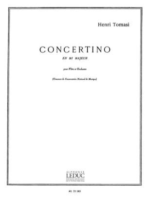 Concertino en mi majeur - Flûte piano TOMASI Partition laflutedepan