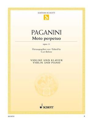 Niccolò Paganini - Moto Perpetuo op. 11 - Partition - di-arezzo.co.uk