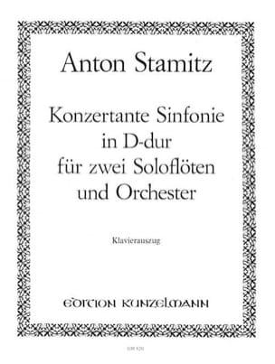 Konzertante Sinfonie D-Dur -2 Flöten Klavier STAMITZ laflutedepan