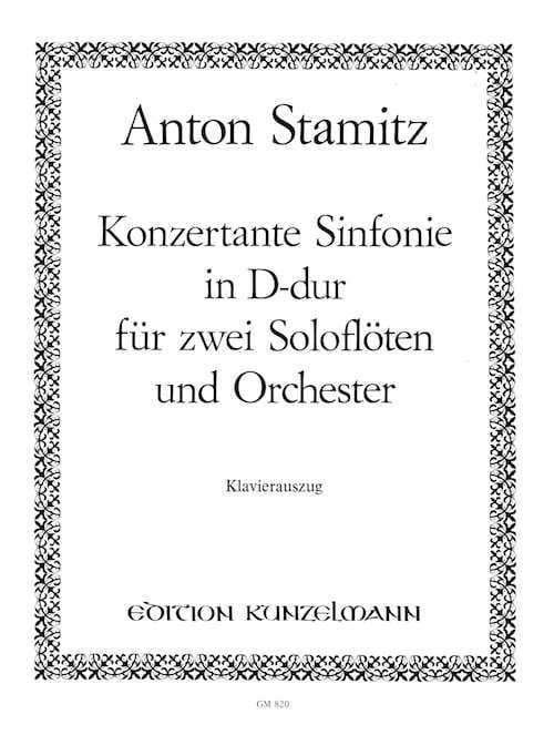 Konzertante Sinfonie D-Dur -2 Flöten Klavier - laflutedepan.com