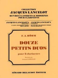 12 Petits duos F. A. Böhm Partition Clarinette - laflutedepan