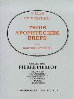 3 Apophtègmes brefs Gilles Silvestrini Partition laflutedepan