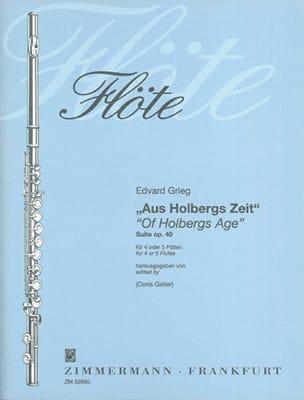 Aus Holbergs Zeit - Suite Op. 40 GRIEG Partition laflutedepan