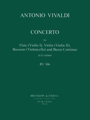 Concerto In G Minor Rv 106 P. 404 - Flute Violin Bassoon Bc laflutedepan