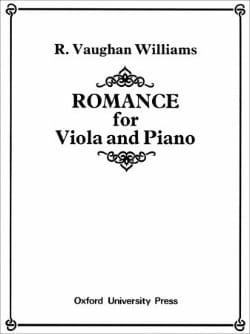 Romance -alto piano WILLIAMS VAUGHAN Partition Alto - laflutedepan