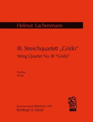 III Streichquartett Grido 2001 - partitur - laflutedepan.com
