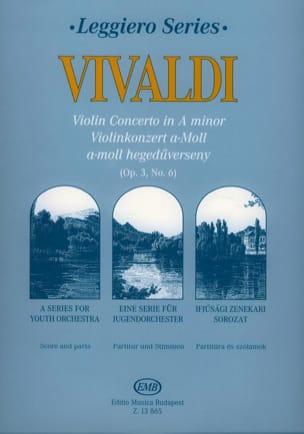 Violin Concerto In A Minor, Rv 356 Op.3 N°6 - Score & Parts laflutedepan
