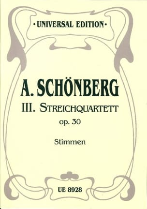 Streichquartett Nr. 3 op. 30 -Stimmen SCHOENBERG laflutedepan