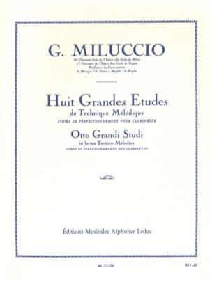 8 Grandes études Giacomo Miluccio Partition Clarinette - laflutedepan