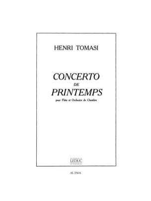 Concerto de printemps - Flûte piano TOMASI Partition laflutedepan
