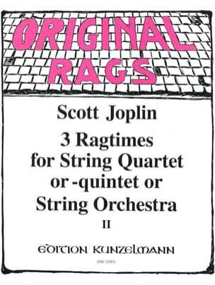 3 Ragtimes String Quartet or Quintet, Volume 2 JOPLIN laflutedepan