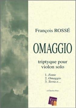 Omaggio Triptyque - François Rossé - Partition - laflutedepan.com