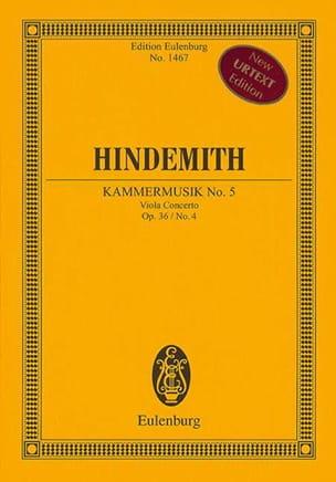 Viola Concerto Op.36 N°4 - Kammermusik N°5 HINDEMITH laflutedepan