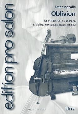 Oblivion Astor Piazzolla Partition Trios - laflutedepan