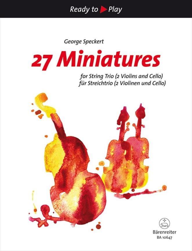 27 Miniatures - Trio à Cordes - George Speckert - laflutedepan.com