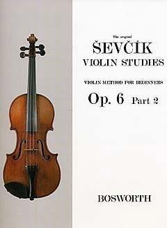 Etudes Opus 6 / Partie 2 - Violon Otakar Sevcik Partition laflutedepan