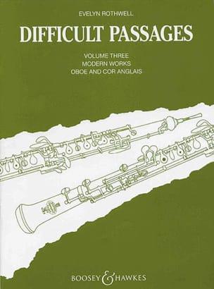 Difficult passages - Volume 3 - Oboe / Cor anglais laflutedepan