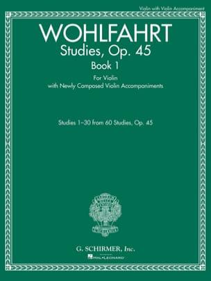 Studies, op. 45 Book 1 - Violon Franz Wohlfahrt Partition laflutedepan