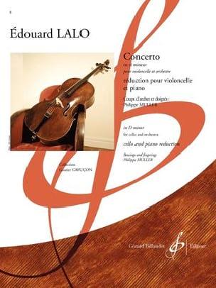 Concerto - Violoncelle et Piano LALO Partition laflutedepan