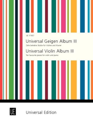 Universal Geigen Album 3 Peter Kolman Partition Violon - laflutedepan