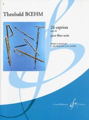 24 Caprices, op. 26 Theobald Boehm Partition laflutedepan