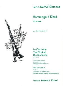 Hommage à Klosé Jean-Michel Damase Partition Clarinette - laflutedepan