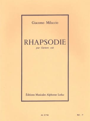 Rhapsodie - Giacomo Miluccio - Partition - laflutedepan.com