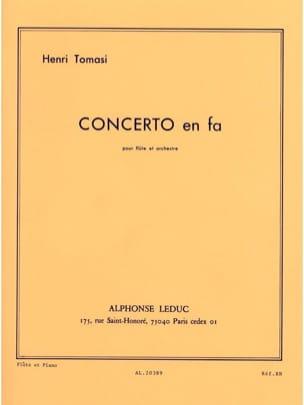 Concerto en Fa TOMASI Partition Flûte traversière - laflutedepan