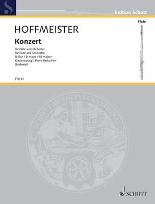 Konzert D-Dur für Flöte - Flöte Klavier HOFFMEISTER laflutedepan