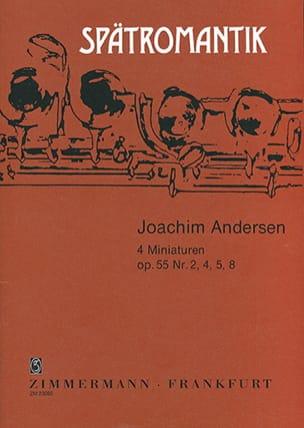4 Miniaturen op. 55 n° 2, 4, 5, 8 ANDERSEN Partition laflutedepan