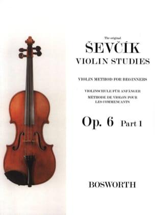 Etudes Opus 6 / Partie 1 - Violon Otakar Sevcik Partition laflutedepan