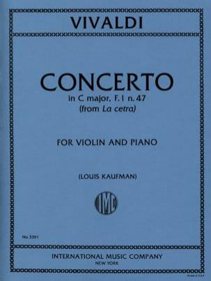Concerto in C major op. 9 n° 1 - F. 1 n° 47 - laflutedepan.com