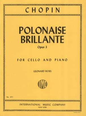 Polonaise brillante op. 3 CHOPIN Partition Violoncelle - laflutedepan