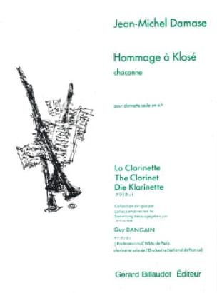 Hommage à Klosé - Jean-Michel Damase - Partition - laflutedepan.com
