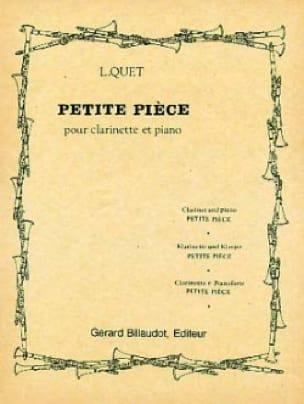 Petite Pièce - Louis Quet - Partition - Clarinette - laflutedepan.com