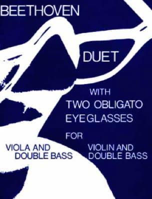 Duet With Two Obligato Eyeglasses - BEETHOVEN - laflutedepan.com