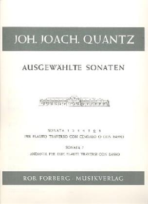 Ausgewählte Sonaten Nr. 6 - Flöte Cembalo - QUANTZ - laflutedepan.com