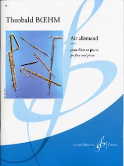 Air allemand op. 22 Theobald Boehm Partition laflutedepan