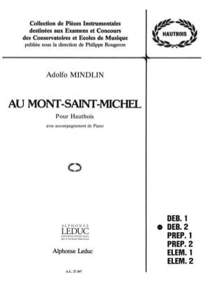 Au Mont Saint Michel Adolfo Mindlin Partition Hautbois - laflutedepan