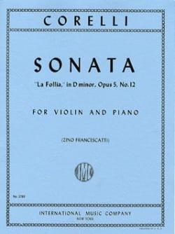 Sonate La Follia op. 5 n° 12 CORELLI Partition Violon - laflutedepan