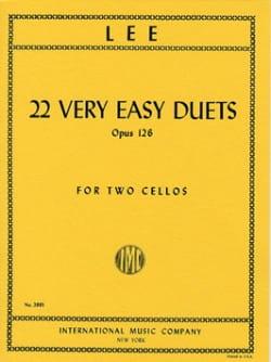 22 Very Easy Duets Op. 126 Sebastian Lee Partition laflutedepan