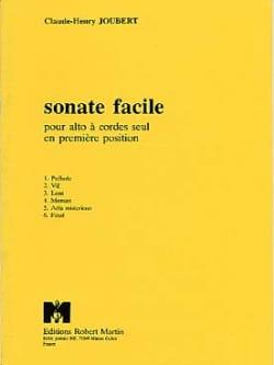 Sonate facile Claude-Henry Joubert Partition Alto - laflutedepan