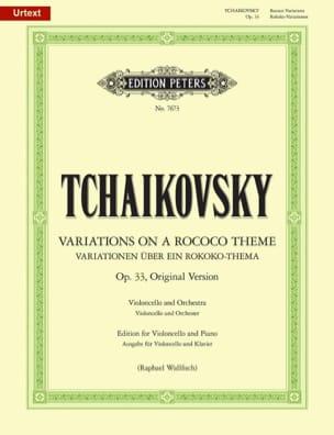 TCHAIKOVSKY - Variationen über ein Rokoko Thema, op. 33 Urtext - Partition - di-arezzo.de