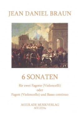 6 Sonaten Volume 1 Jean-Daniel Braun Partition Basson - laflutedepan