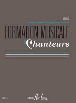 Formation Musicale Chanteurs - Volume 3 laflutedepan